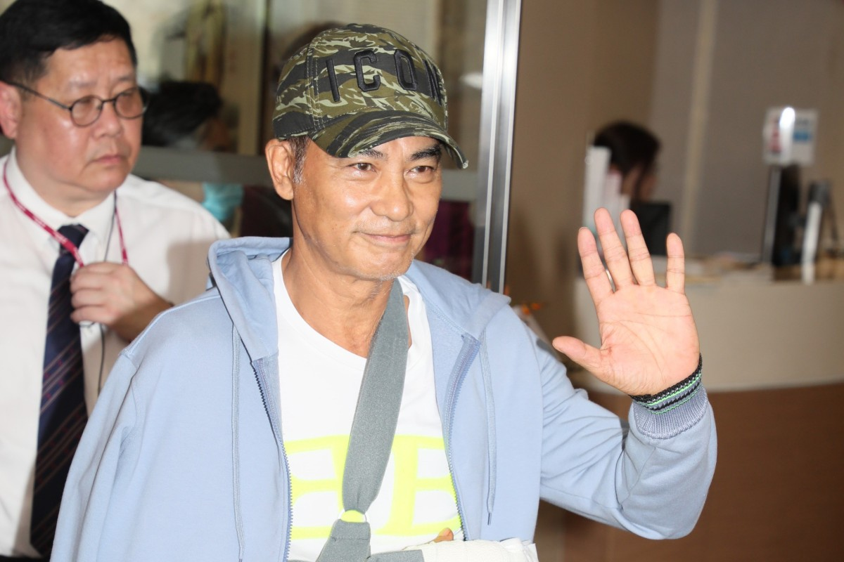 Stabbed actor Simon Yam Tat-wah discharged from Hong Kong Adventist Hospital after shock attack in Zhongshan