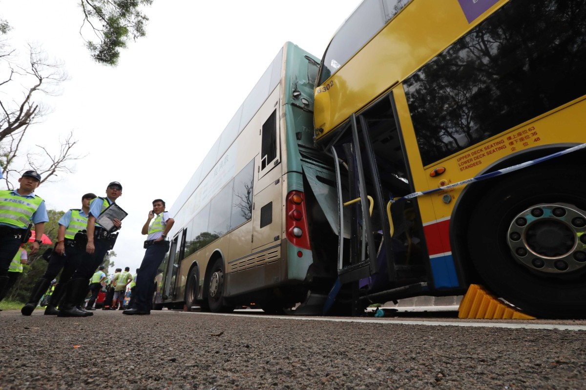 Two buses crash in Hong Kong, leading to 77 injured and