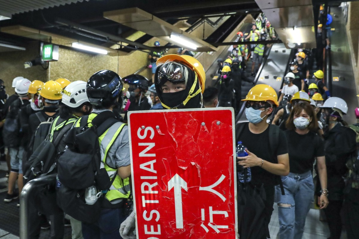 Those who support Hong Kong's young protesters say they are students with not enough to buy meals after spending on protective gear. Photo: Sam Tsang