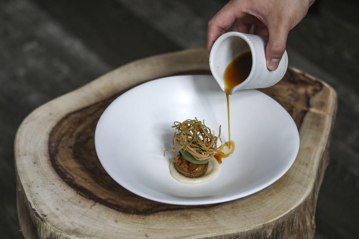 Kataifi at Nectar in Hong Kong, a new high-end restaurant focusing on plant-based dishes. Photo: Jonathan Wong