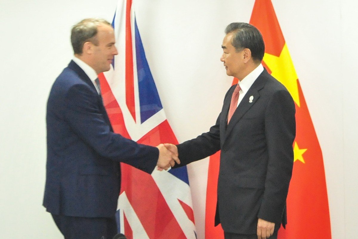 UK's new foreign secretary calls on China to respect 'peaceful