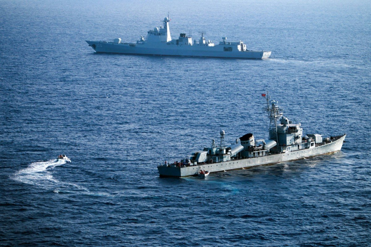 Chinese vessels during a previous military exercise near the disputed Paracel Islands in the South China Sea. Photo: AFP