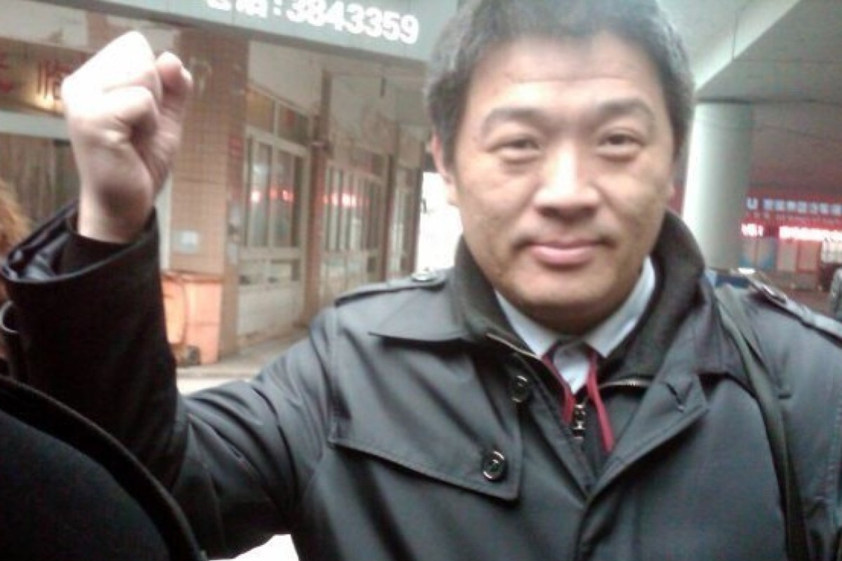Li Jinxing, China most active rights lawyers, has lost his licence to practice law. Photo: Weibo