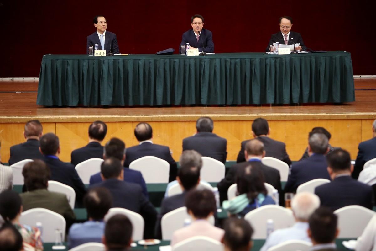 Business elite and pro-Beijing politicians meet officials