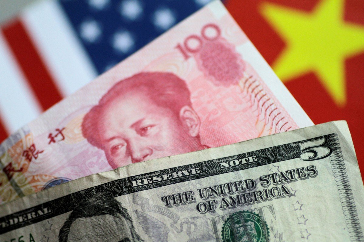 US dollar and Chinese yuan notes are seen in this picture illustration from June 2017. Photo: Reuters