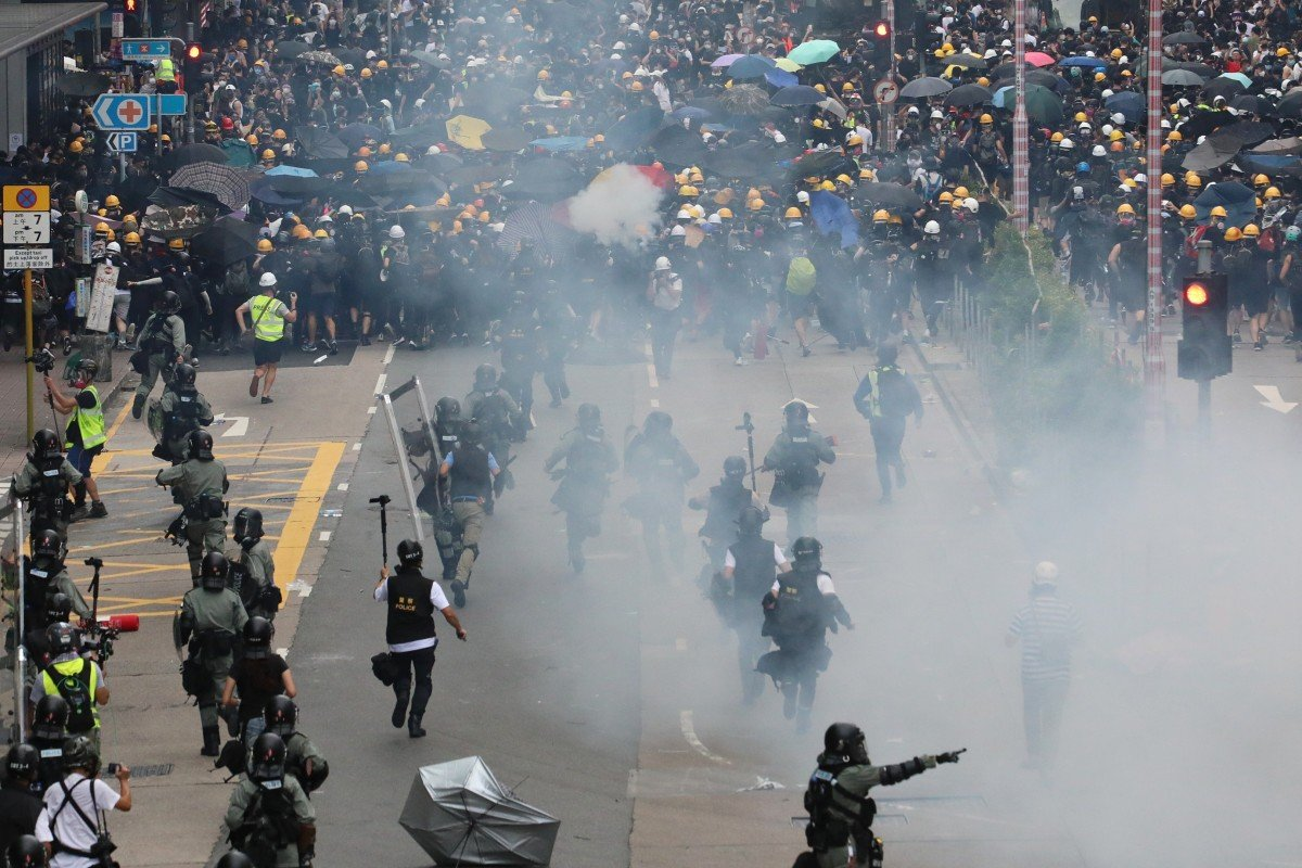 Hong Kong's developers blame violent acts of anti-government