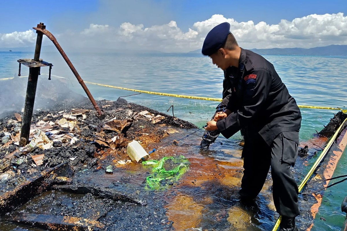 Seven killed after ferry catches fire off Indonesia's Sulawesi