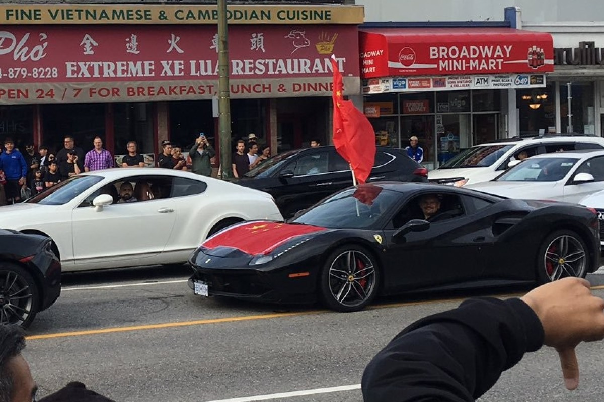 'Worst Fast and Furious movie ever': convoys of Ferrari-driving pro-China patriots rev up protests in...