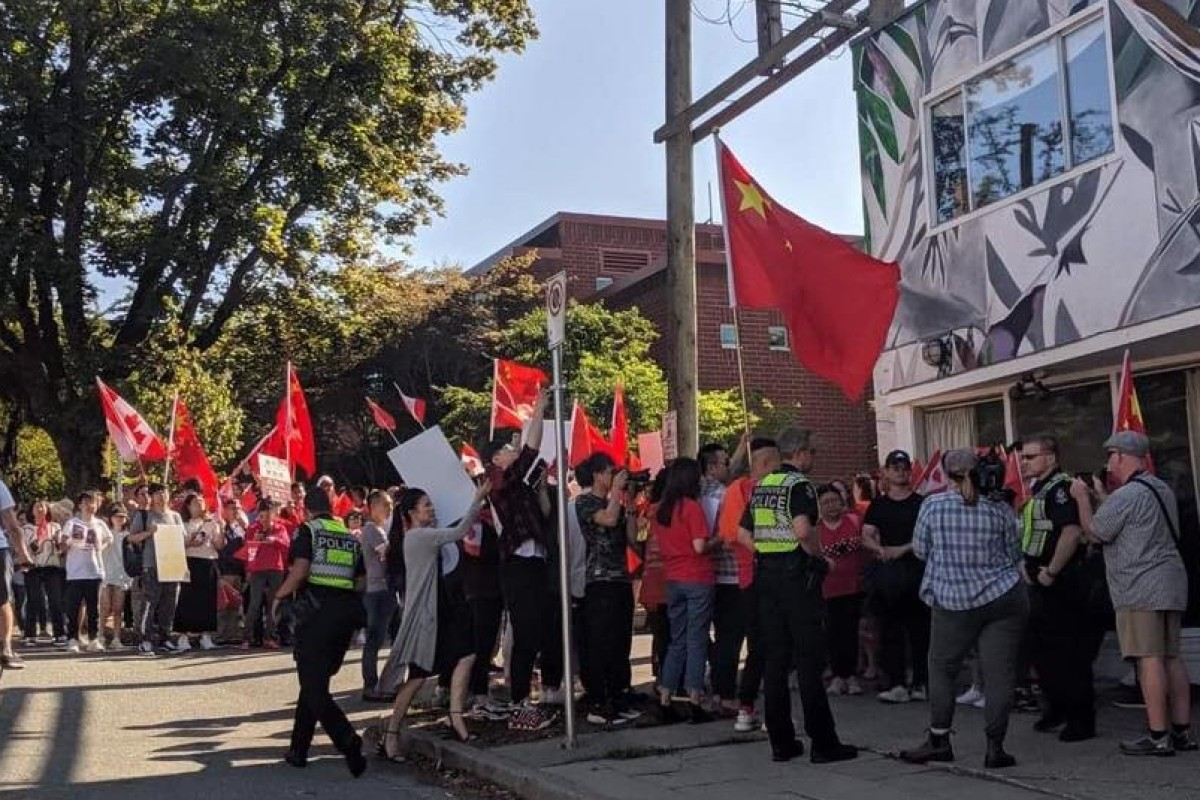 Canadian police escort worshippers as 'bullying' pro-China