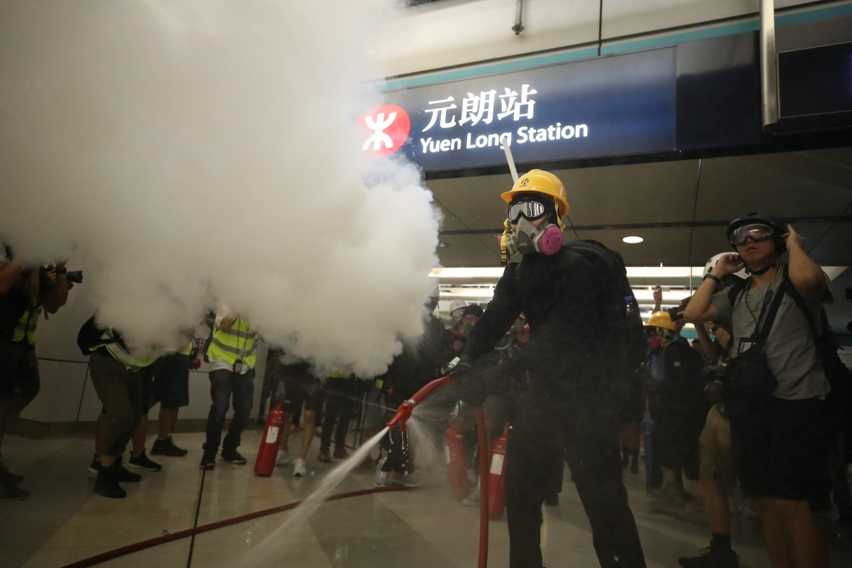 Image result for hong kong protest train stations
