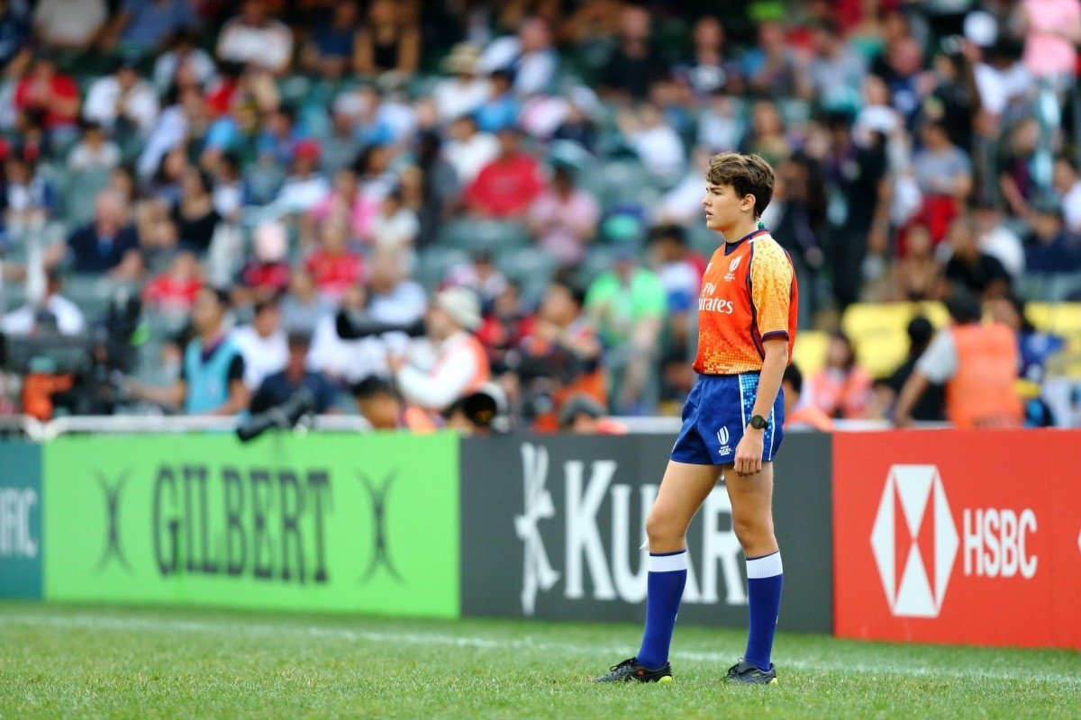 A Hongkonger, the world's youngest rugby test referee, is