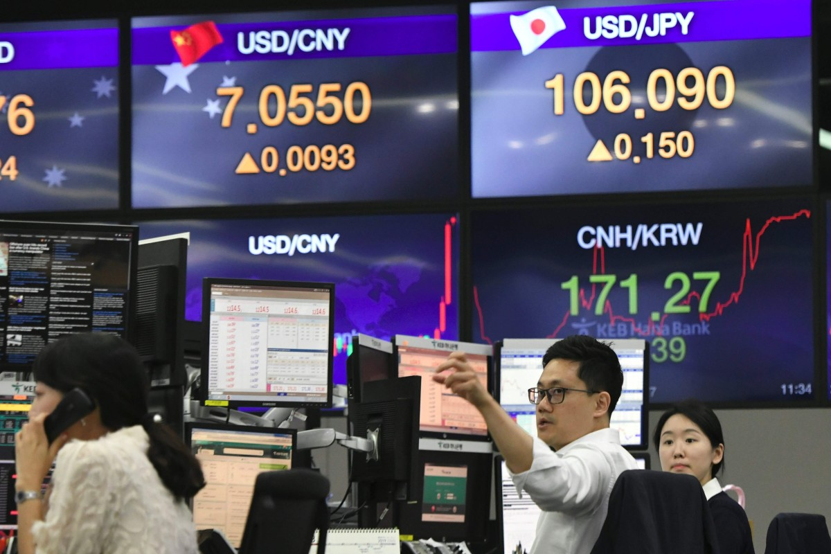 Chinese authorities let the yuan drop to its weakest level since March 2018, the seventh straight daily decline, on Friday. Photo: AFP
