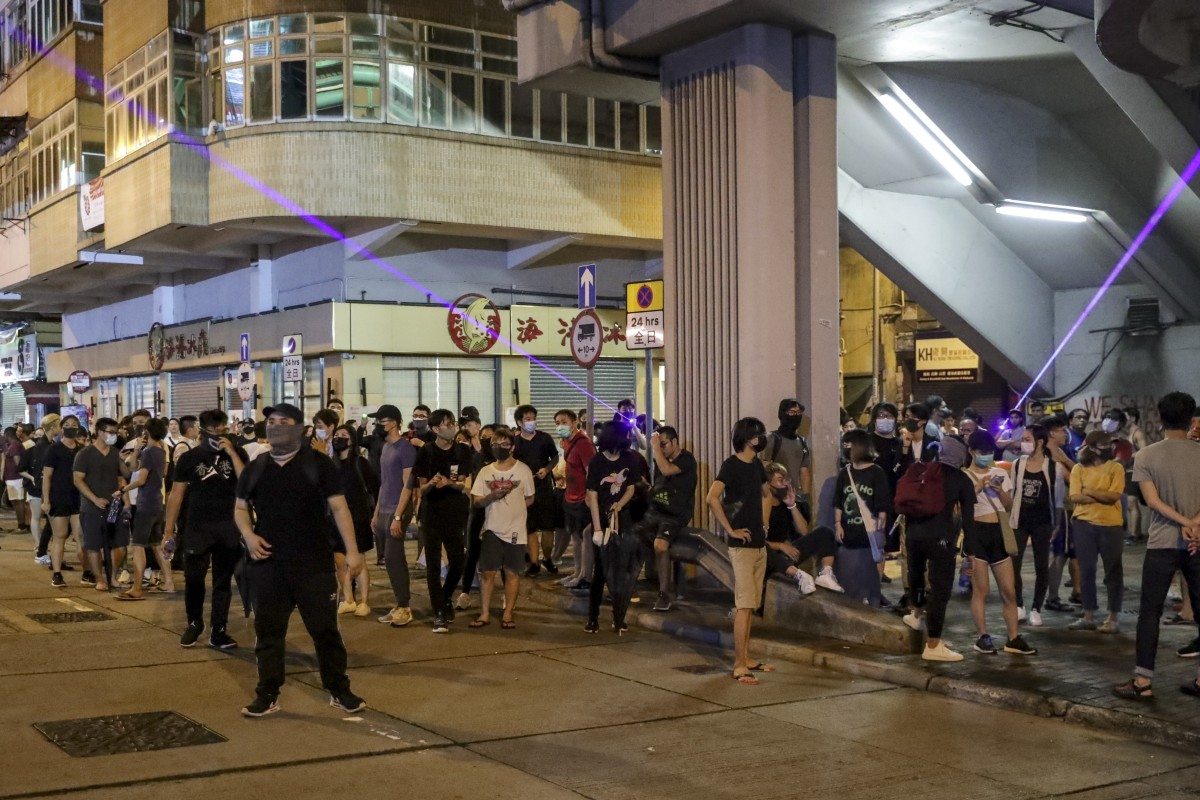 Hong Kong protests: riot police back in action after crowd gathers in Sham Shui Po and station is targeted...