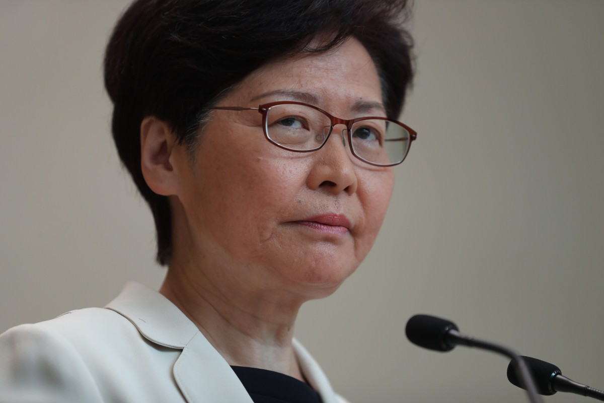 Chief Executive Carrie Lam speaks to the media on Tuesday before the weekly Executive Council meeting. Photo: Sam Tsang
