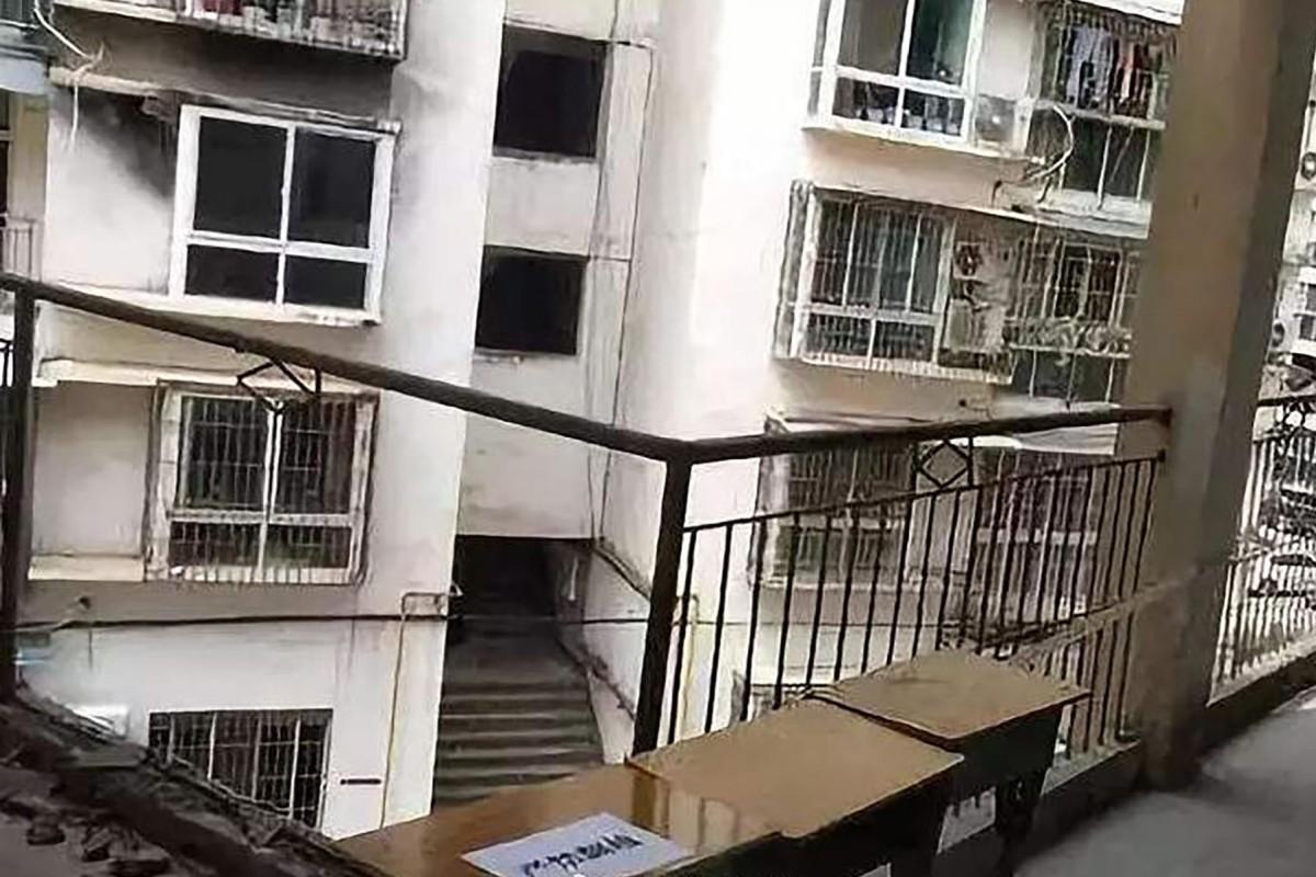 Teenage Chinese boy killed after balcony railings give way