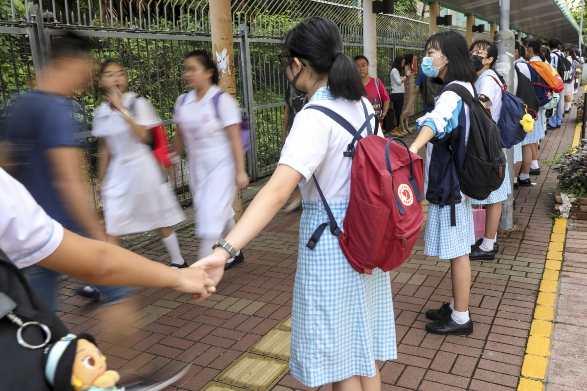 Hong Kong school boycott continues as hundreds turn out in
