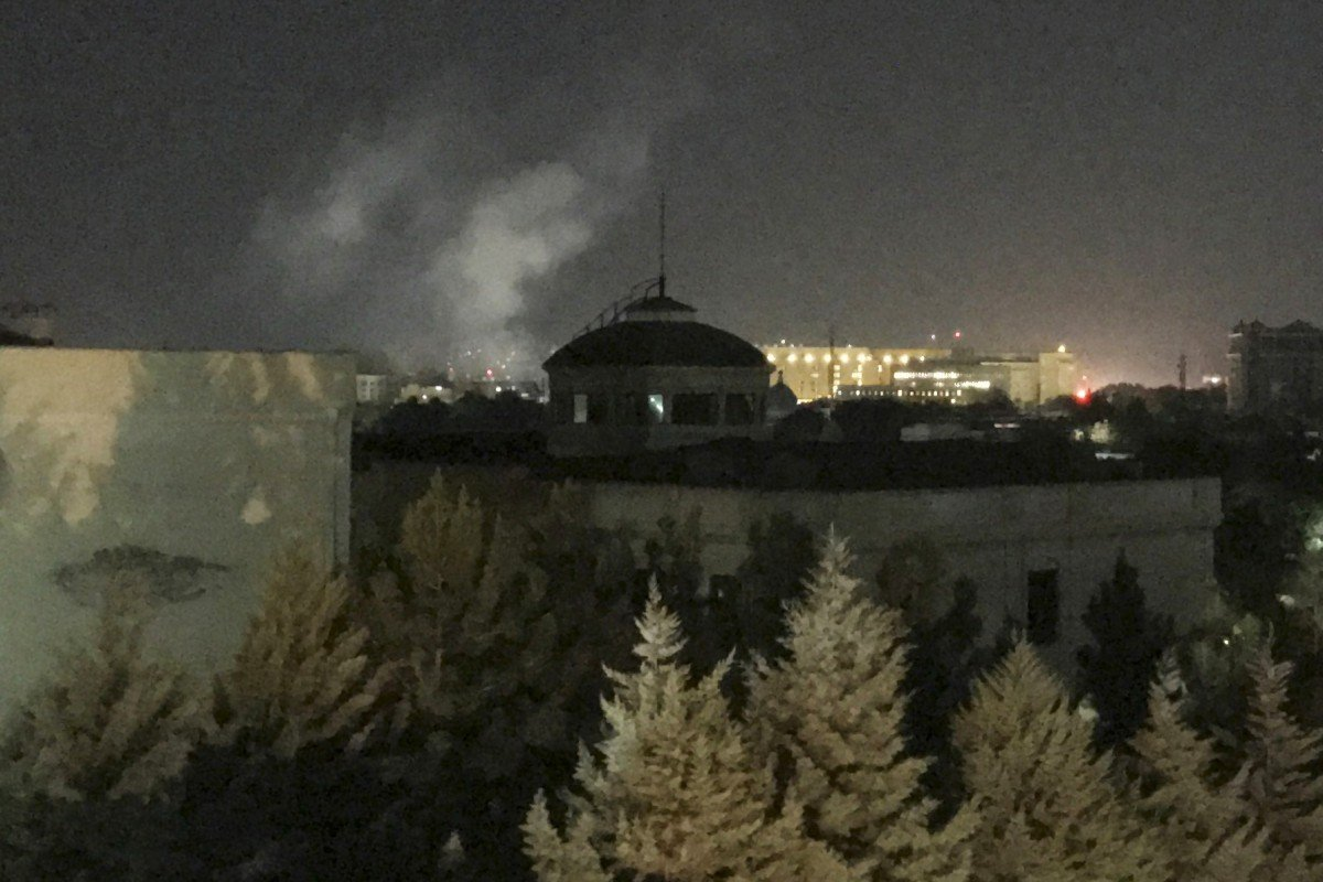 Image result for blast in us embassy kabul