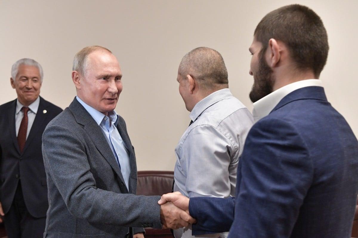 Ufc Khabib And Vladimir Putin Throw Shade At Conor Mcgregor As Russian President Praises Chokehold South China Morning Post