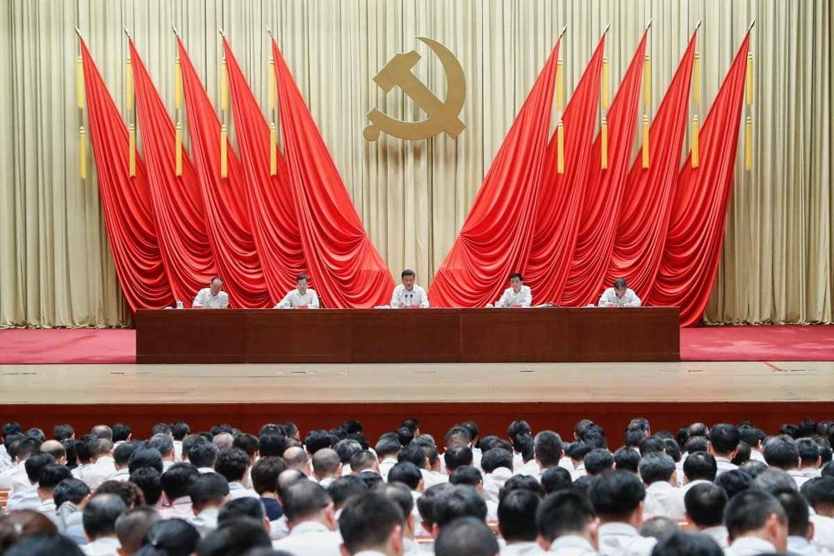 President Xi Jinping, also general secretary of the Communist Party's Central Committee and chairman of the Central Military Commission, makes a speech during the opening ceremony of a training programme for party officials in Beijing on September 3. Photo: Xinhua