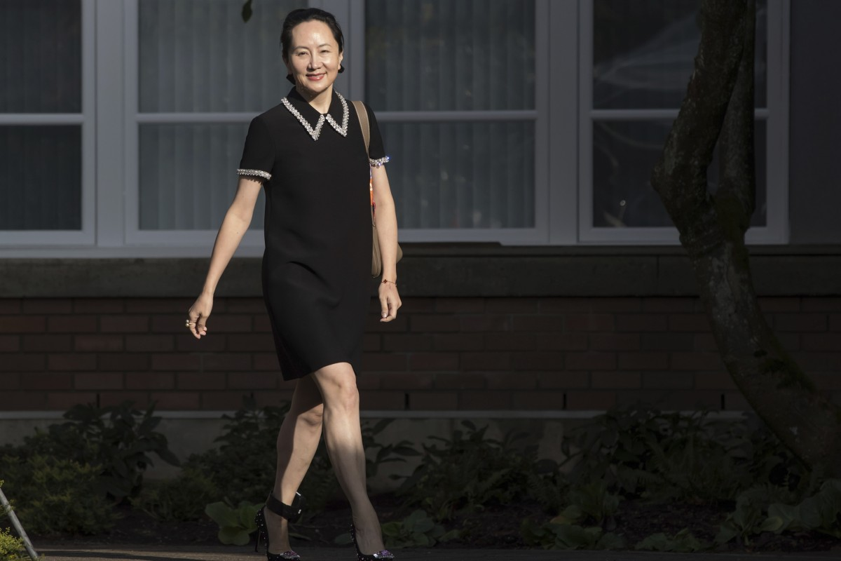 Huawei Technologies CFO Meng Wanzhou leaves her home to attend a court hearing in Vancouver on Tuesday. Photo: The Canadian Press via AP