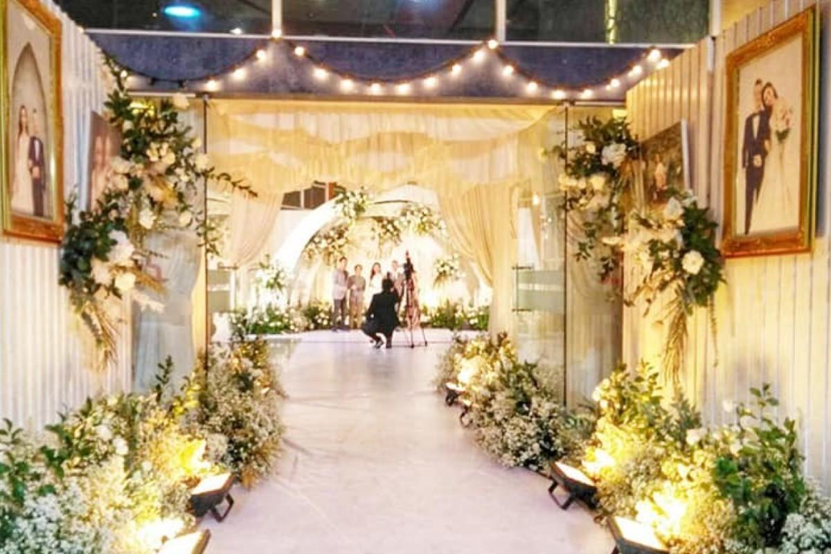 Foto pernikahan mewah yang dilakukan di sebuah hotel di Bangkok, Thailand.