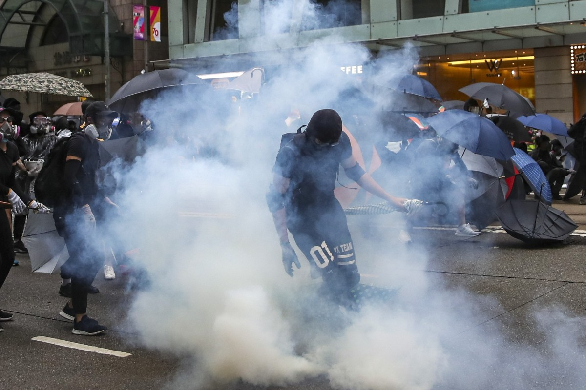 Hong Kong police buy new tear gas canisters from mainland China, including same hand-thrown model used by...