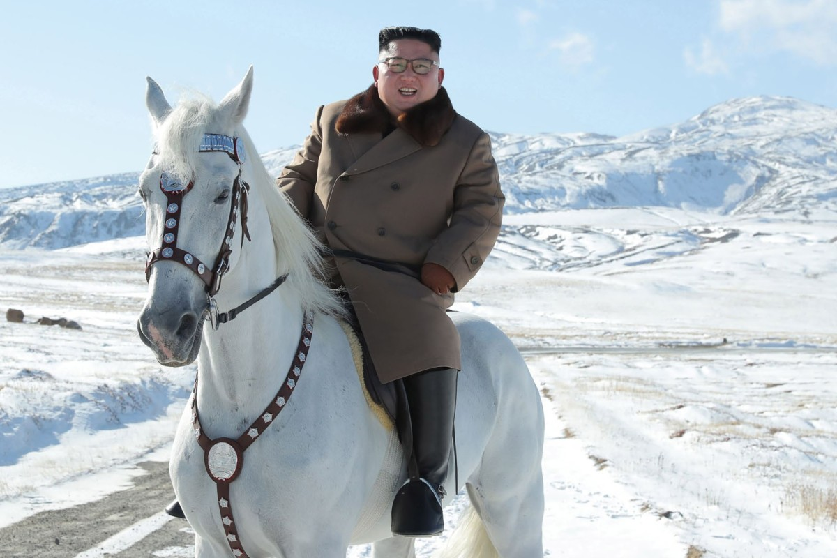 Why is Kim Jong-un riding a horse up a sacred mountain? Some