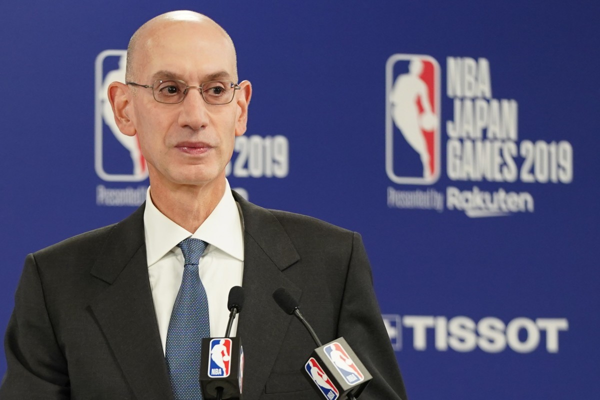 """NBA Commissioner Adam Silver """"sought to paint China as unforgiving"""", according to state broadcaster CCTV. Photo: EPA-EFE"""