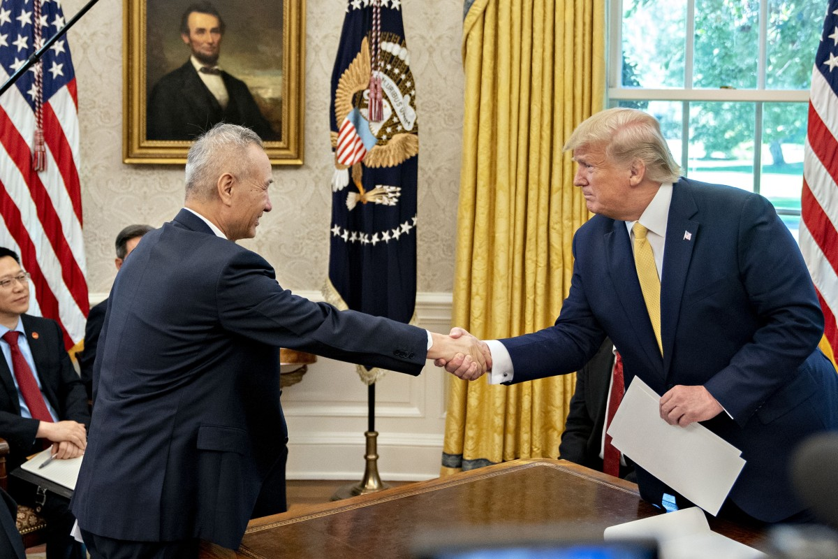 China's top trade negotiator Vice-Premier Liu He met US President Donald Trump at the White House last month. Photo: Bloomberg