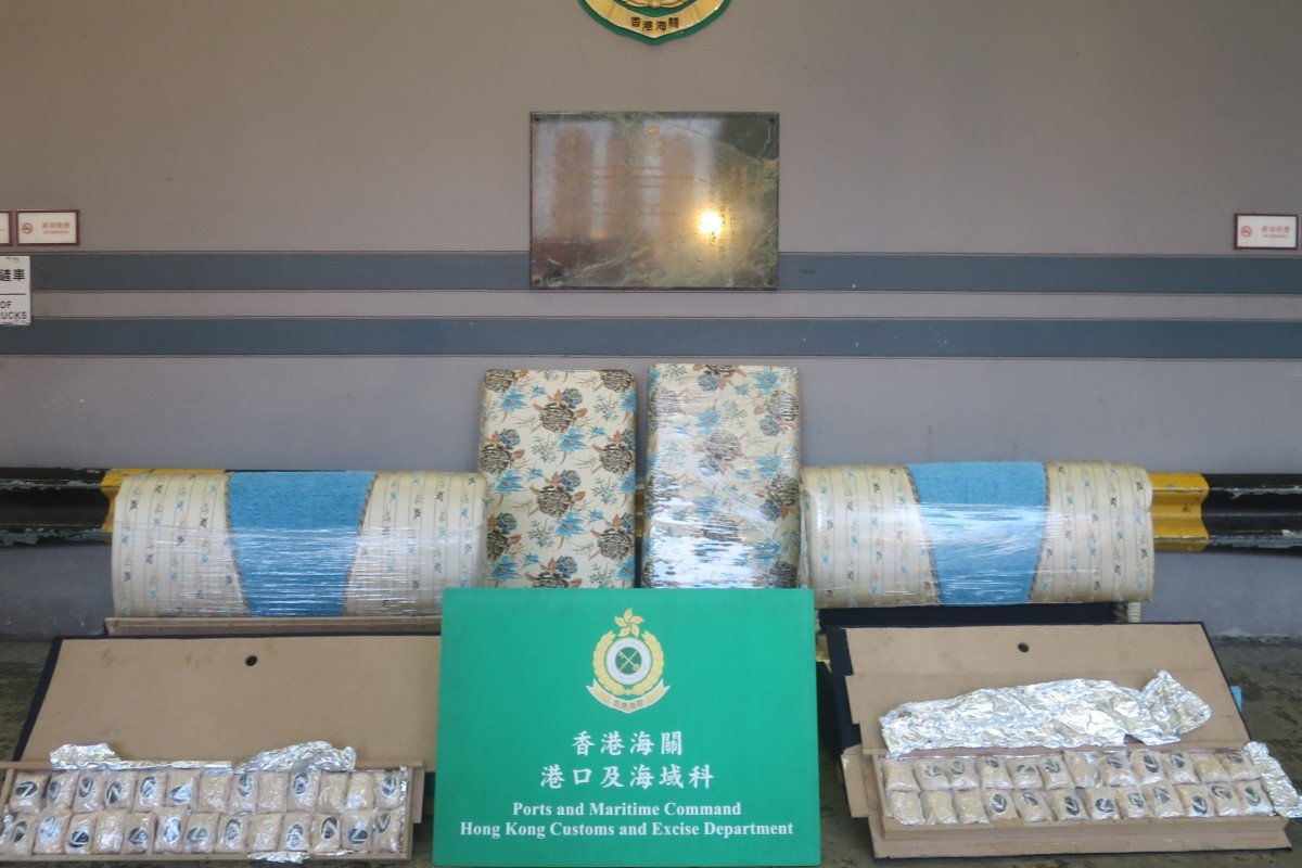 Hong Kong's Customs and Excise Department seized 1.57 million tablets of suspected fenethylline being shipped to Saudi Arabia. Photo: Handout