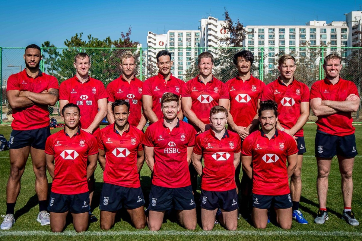 The 13 players who could lead Hong Kong to Olympic glory. From left in back: Max Denmark, Alex McQueen, Max Woodward, Michael Coverdale, Lee Jones, Salom Yui Kam-shing, Tom McQueen, Jamie Hood. In front from left: Cado Lee Ka-to, Ben Rimene, Liam Herbert, Hugo Stiles and Russell Webb.
