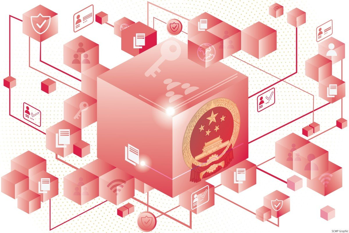 Xi Jinping told the Communist Party elite he wanted China to be a 'rule maker' on blockchain technology. Illustration: SCMP