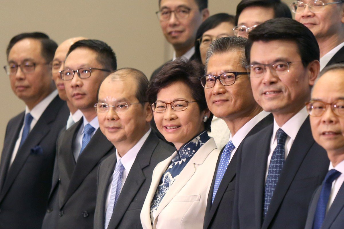 Hong Kong leader Carrie Lam dismisses rumours of cabinet reshuffle ahead of Beijing trip, saying her first...