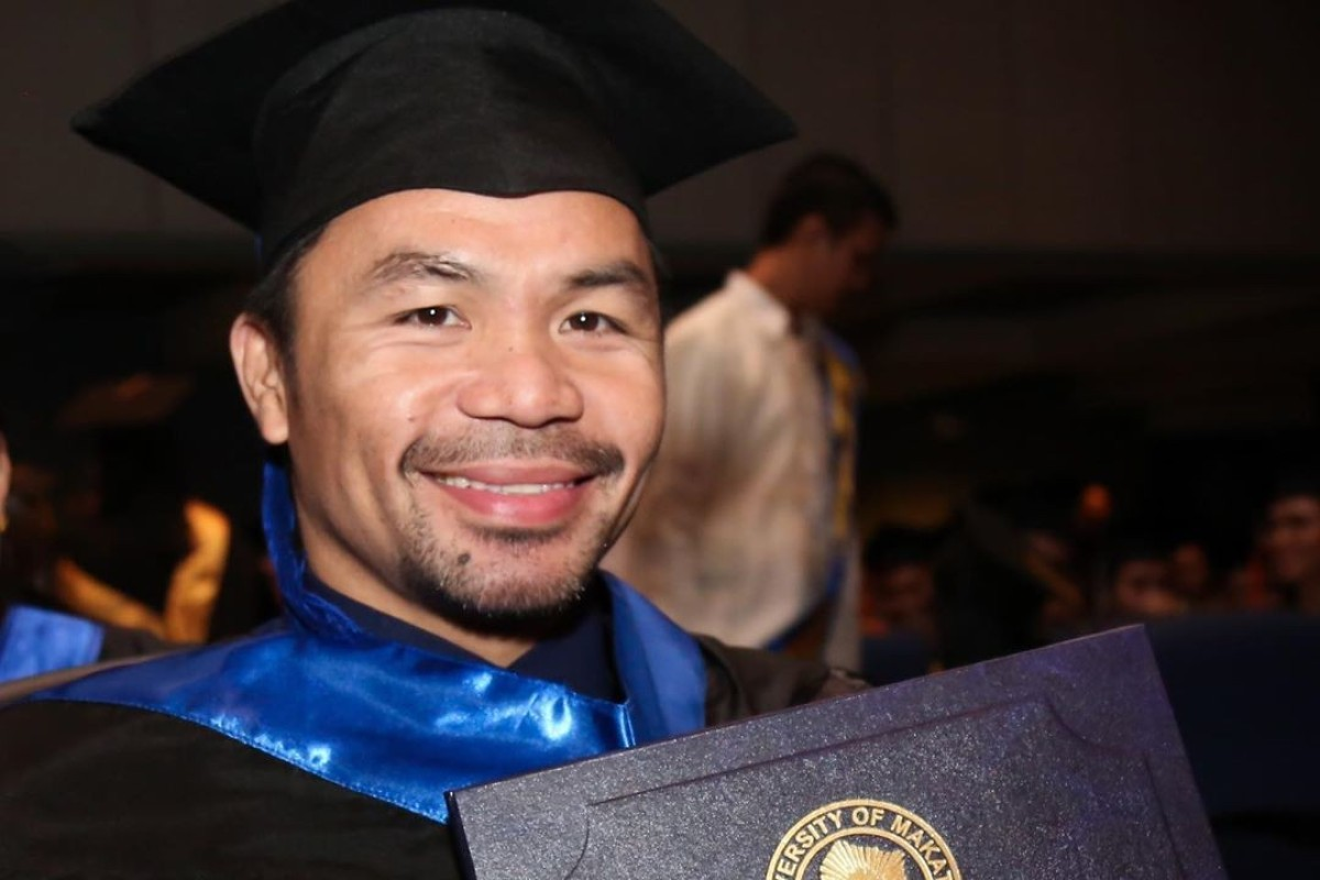 Image result for Manny Pacquiao graduates from university with a degree in political science (photos)