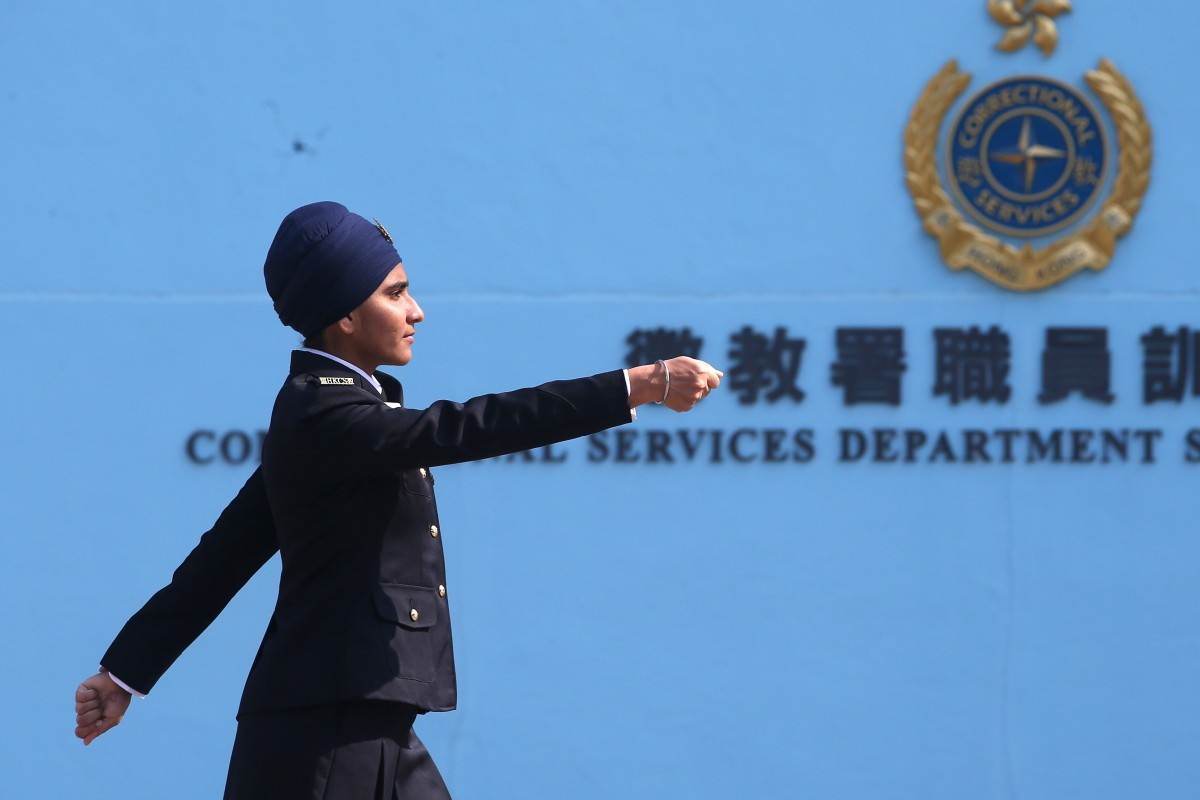 Sukhdeep Kaur, the first Sikh female prison officer to wear a turban in Hong Kong, at the Hong Kong Correctional Services Department in Stanley. 12DEC19 SCMP / David Wong