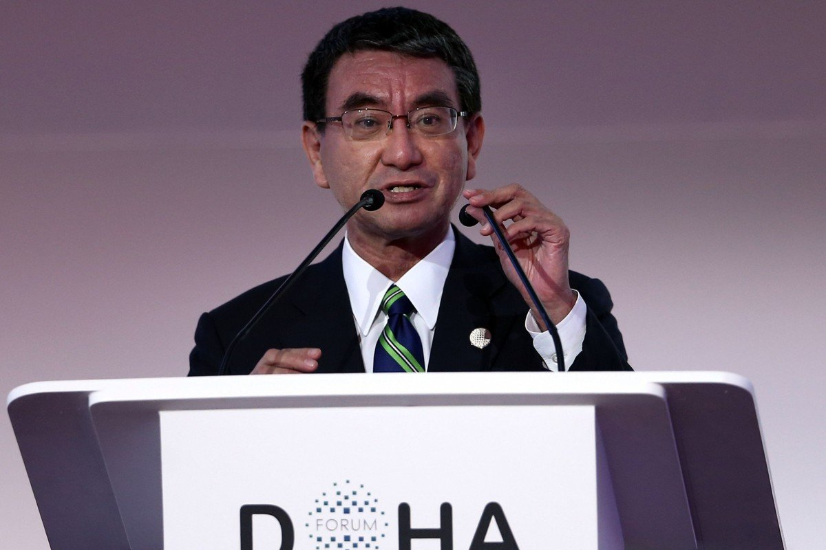 Japan's defence chief hits out at Beijing on South China Sea, military build-up