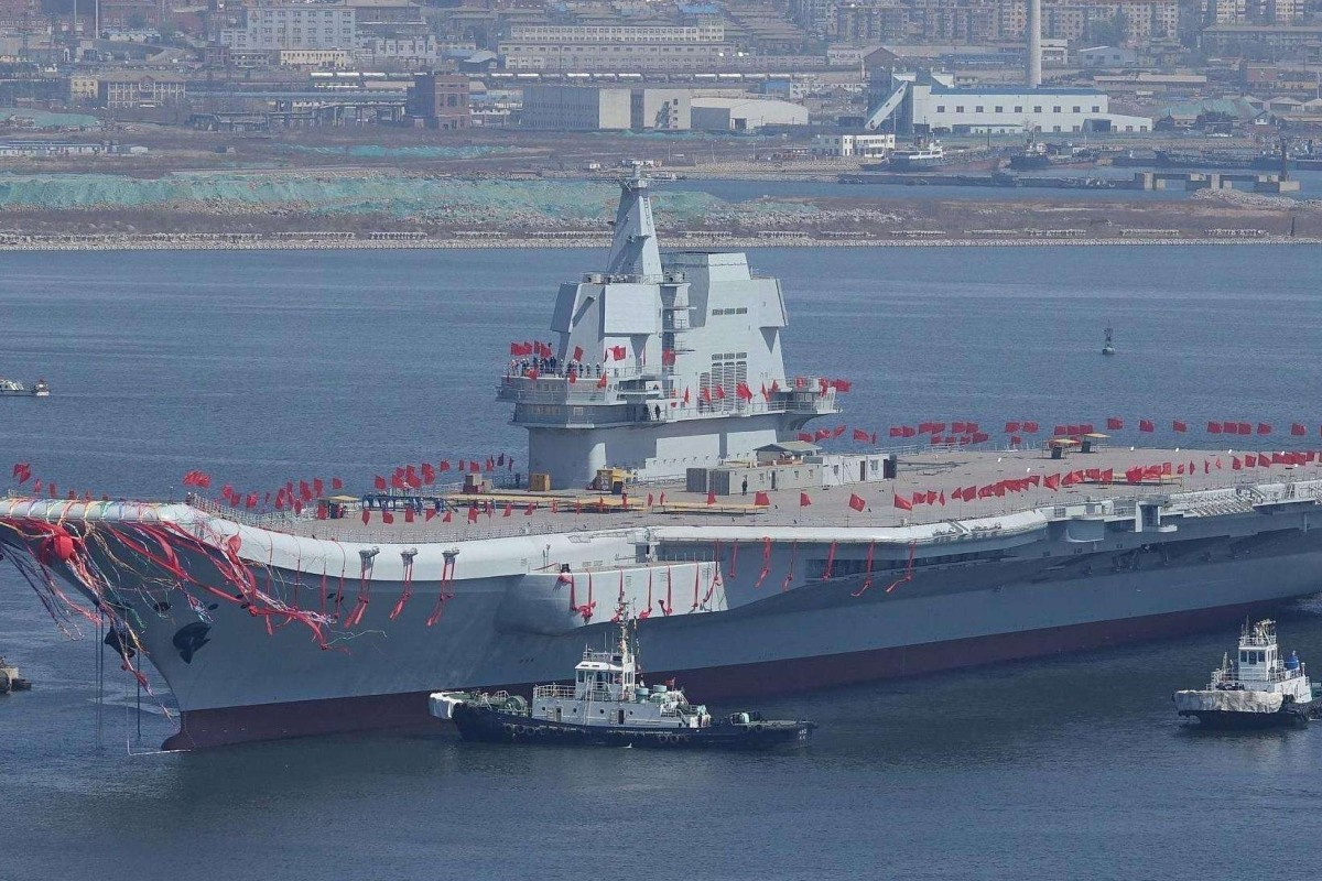 The Shandong, commissioned on Tuesday, will be based in China's far south. Photo: ifeng