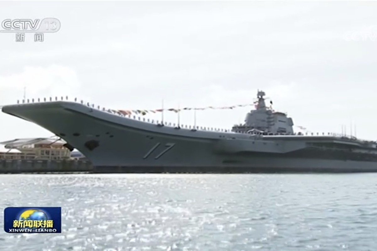 The Shandong is expected to form part of a dual-carrier battle group. Photo: CCTV