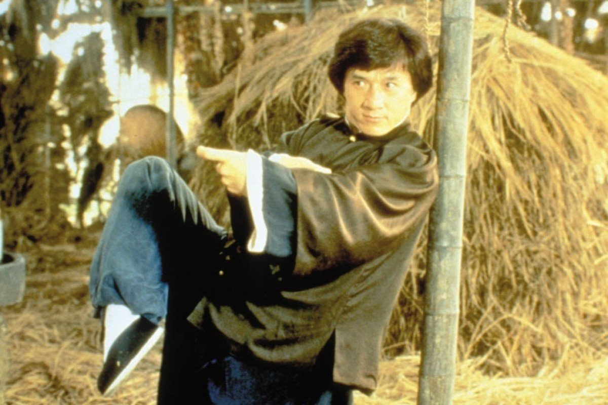 Jackie Chan in a still from Drunken Master
