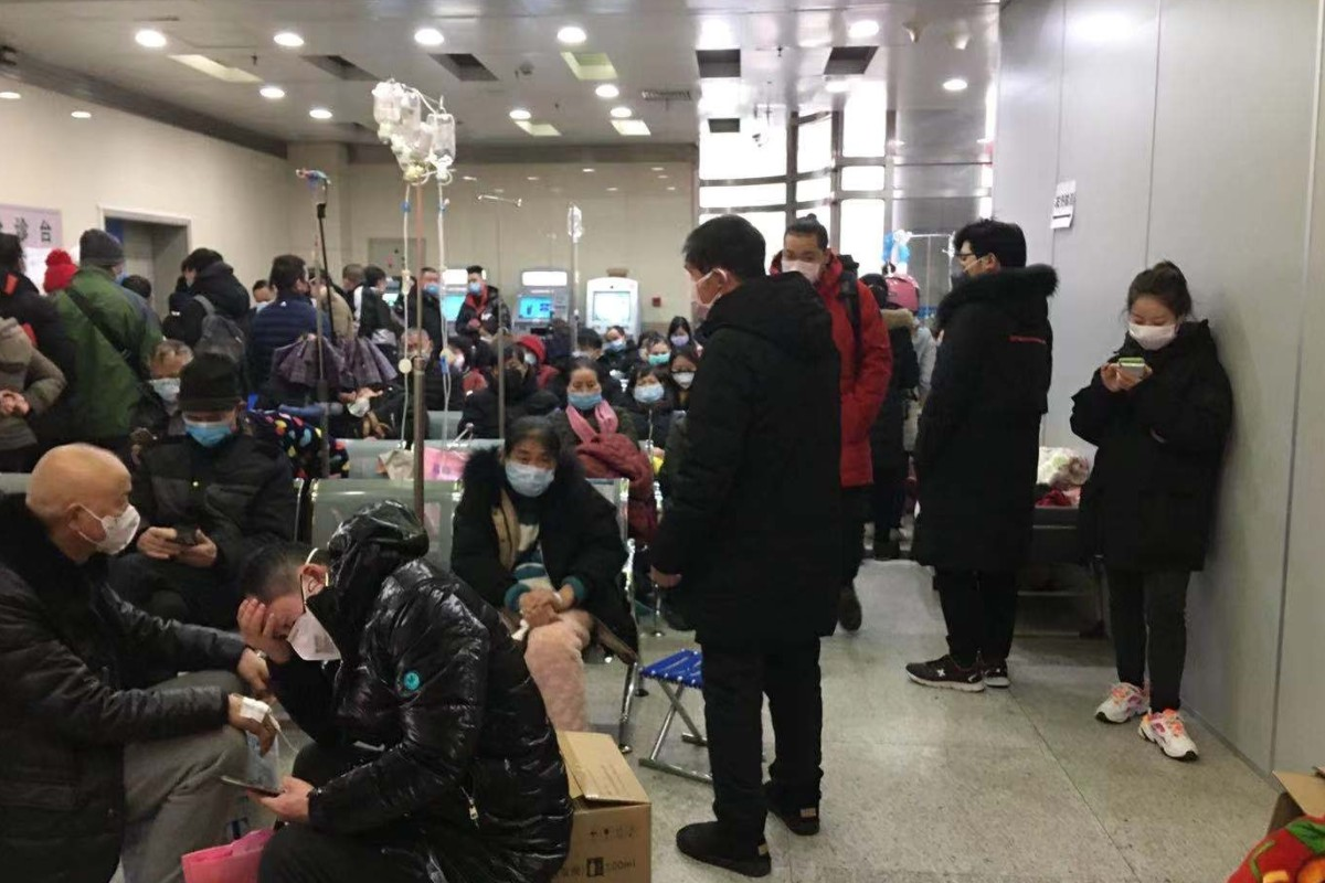 Tongji Hospital in Wuhan has been inundated with patients. Photo: Echo Xie
