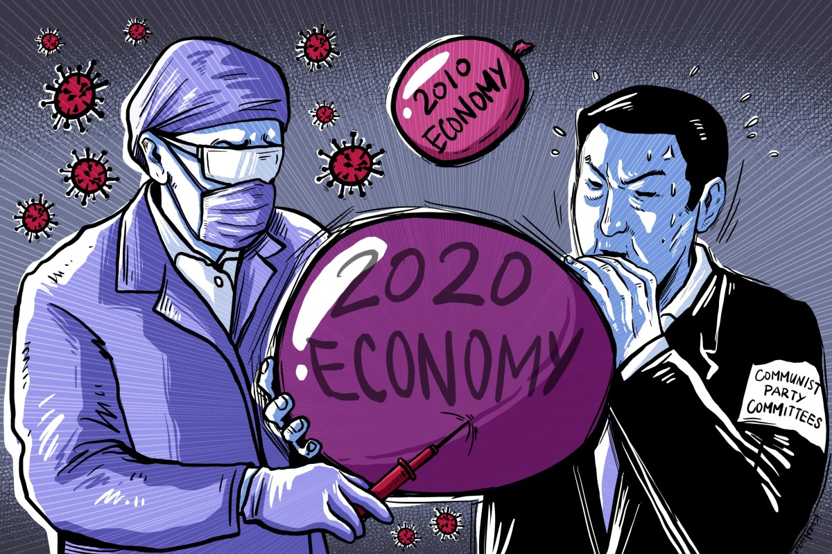 China's small and medium-sized businesses are critical for the economy, but many are worried about the impact of the coronavirus. Illustration: Lau Ka-kuen