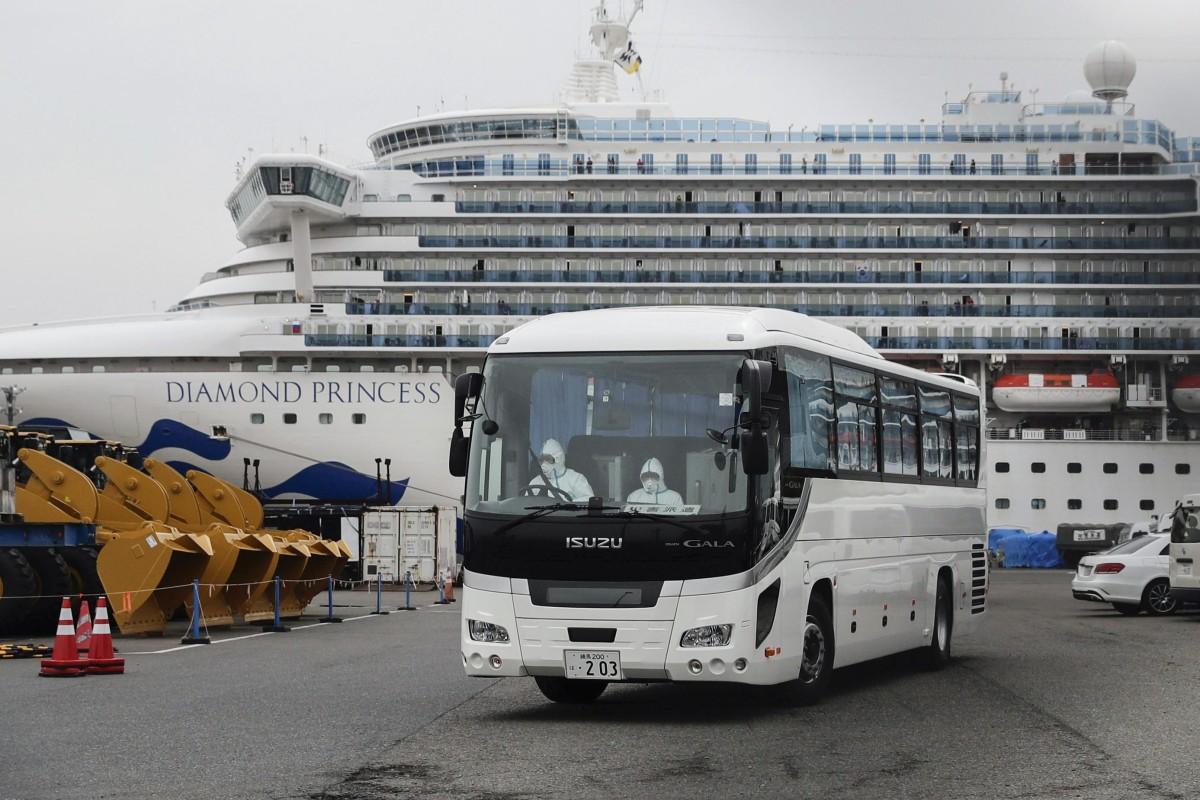 The Diamond Princess is docked in Yokohama. Photo: AP