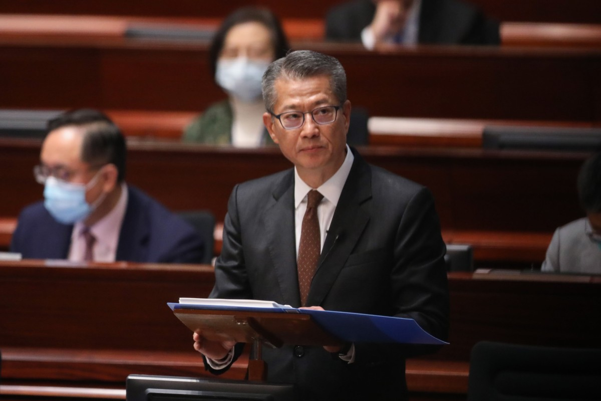 Financial Secretary Paul Chan Mo-po is announcing a huge relief package for Hongkongers. Photo: K.Y. Cheng