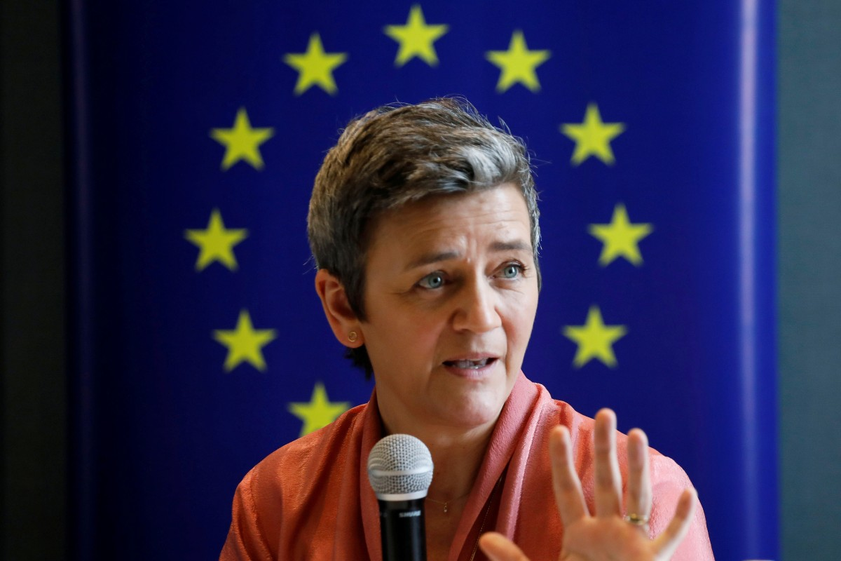 """Margrethe Vestager, vice-president of the European Commission, said the EU would set out a plan to protect """"fair competition"""". Photo: Reuters"""