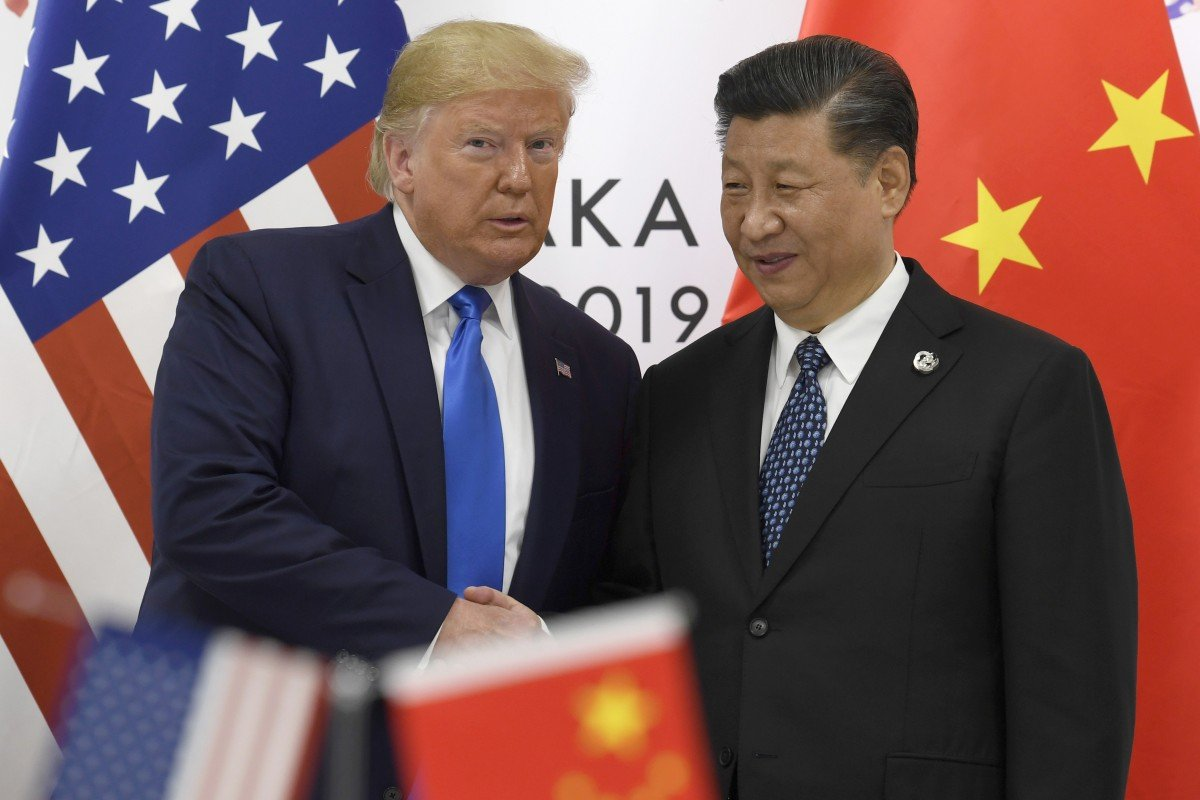 US President Donald Trump and Chinese President Xi Jinping meet on the sidelines of the G20 summit in Osaka, Japan, on June 29, 2019. File photo: AP