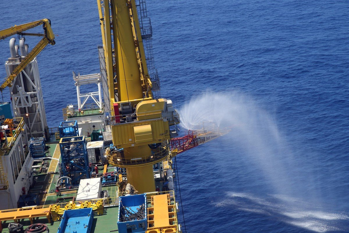 China conducted its first operation to extract natural gas from gas hydrates in the South China Sea in 2017. Photo: Reuters