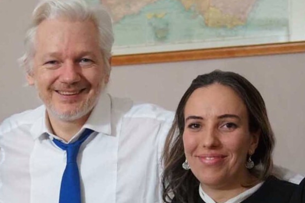 Julian Assange is reportedly the father of two boys – aged two and one – born to South African-born lawyer Stella Morris. Photo: WikiLeaks