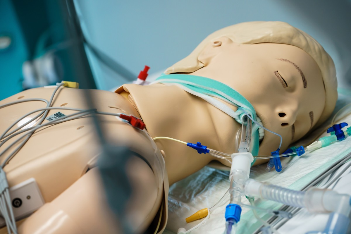 A ventilator tube attached to a dummy at the Vivantes Humboldt Hospital in Berlin, Germany. Photo: EPA