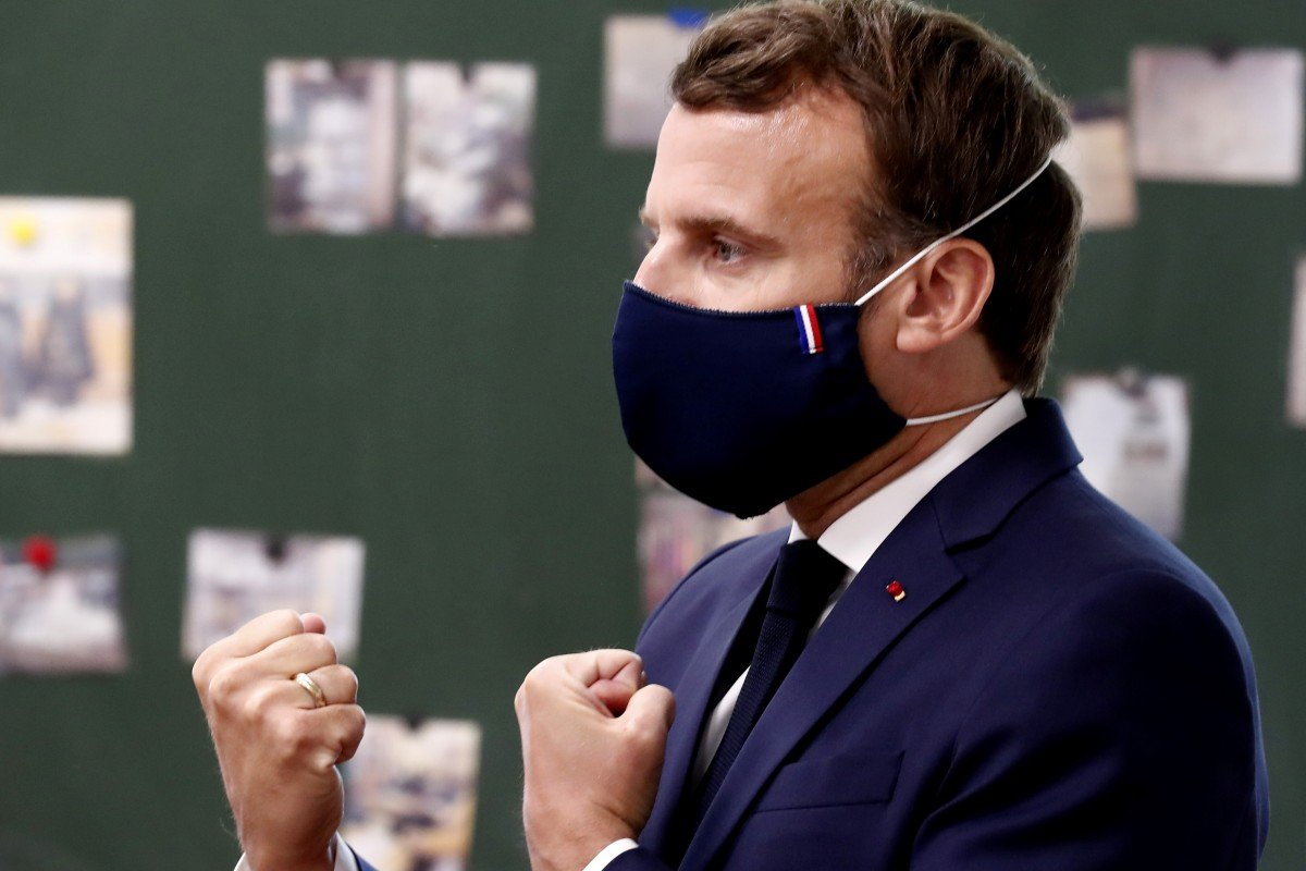 Stylish And Made In France Face Mask President Macron Wore To