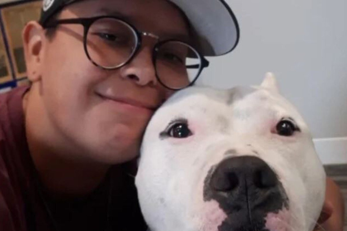 Dakota Holmes and her dog, Kato. She credits Kato with driving off her attacker during a racist incident in a Vancouver park on May 15. Photo: Dakota Holmes